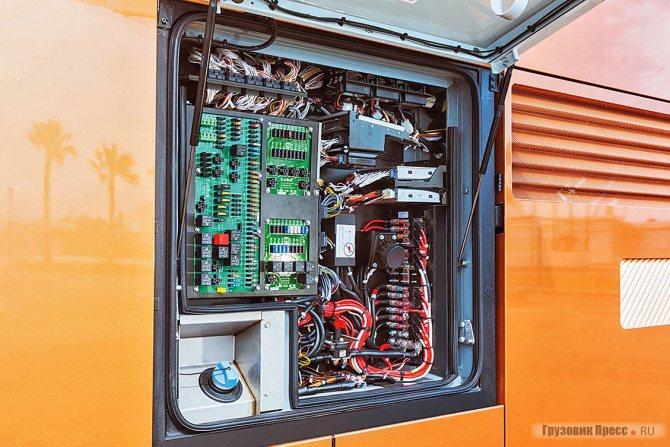 Об электронном оснащении красноречиво свидетельствует этот силовой бокс с предохранителями и процессором