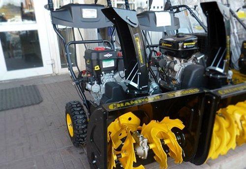 Обзор снегоротора очистителя Champion ST656