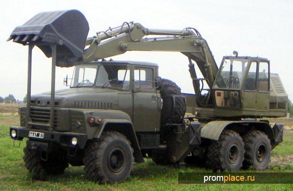 Одноковшовый экскаватор на базе КрАЗ