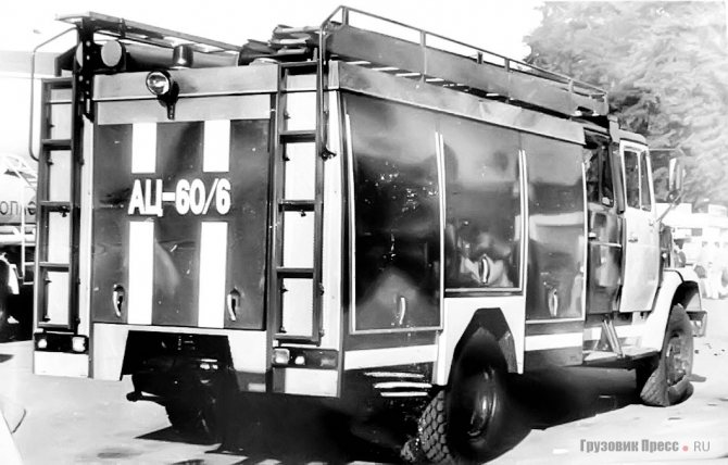 Опытный образец АЦ-60/6 с пожарным насосом Magirus NH-40