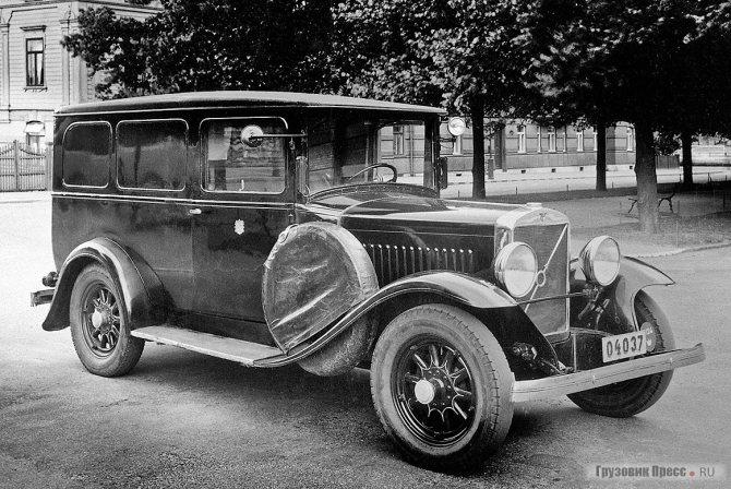1930 г. Тюремный «чёрный ворон» на шасси Volvo TR670