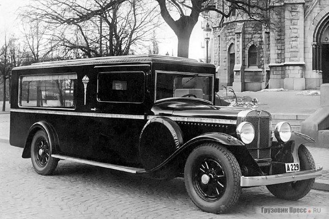 1931 г. Ритуальный автомобиль, предположительно постройки J.W. Nilsson