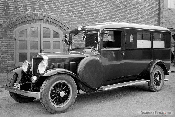 1934 г. Карета «скорой помощи» изготовлена мастерской J.W. Nilsson