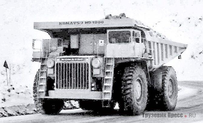Первый Komatsu HD1200 грузоподъёмностью 120 т. 1979 г.