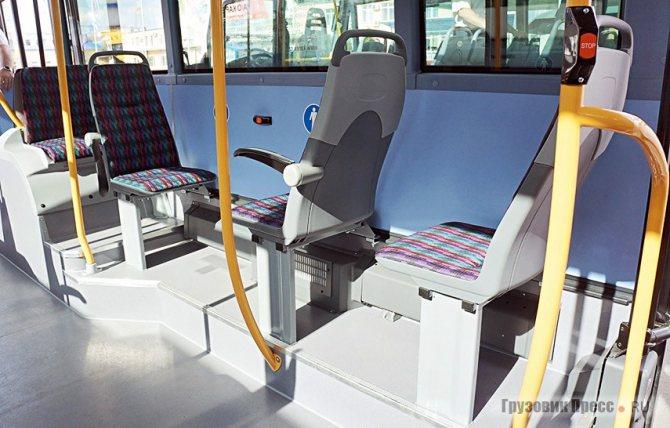 Подиум под сиденьями в передней части хоть и невысок, но есть. Зато взгляните: по правому борту тоже есть полноценная система отопления. Зима не страшна!