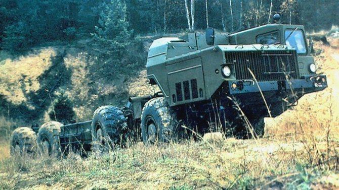 Полигонные испытания 525-сильного шасси МАЗ-543М с одной кабиной (из архива СКБ-1 МАЗ)