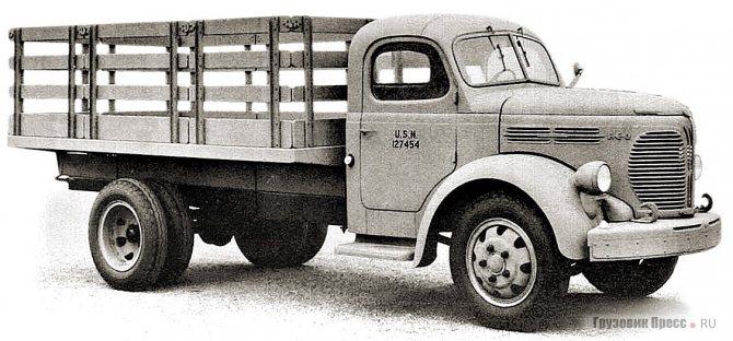 Полуторатонный Reo 19 с высокобортной платформой – типичный грузовик ВМС США. 1941 г.