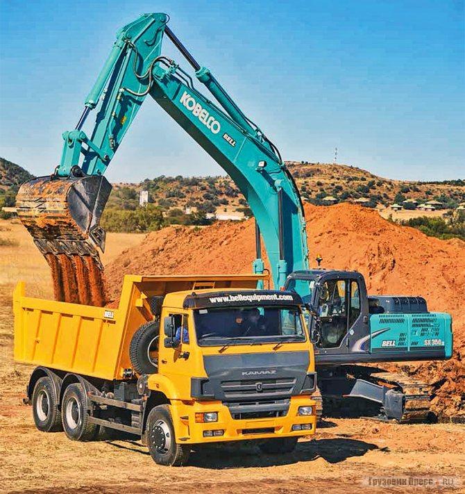 После испытаний КАМАЗ-6520 6х4 в Восточной Капской провинции (ЮАР) компания Vanall's Plant Hire решилась на покупку автопарка из полноприводных КАМАЗ-65222