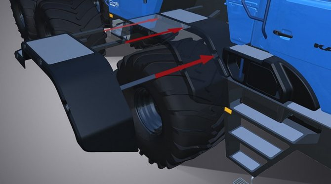 После установки колес с широкими шинами монтируются расширители крыльев
