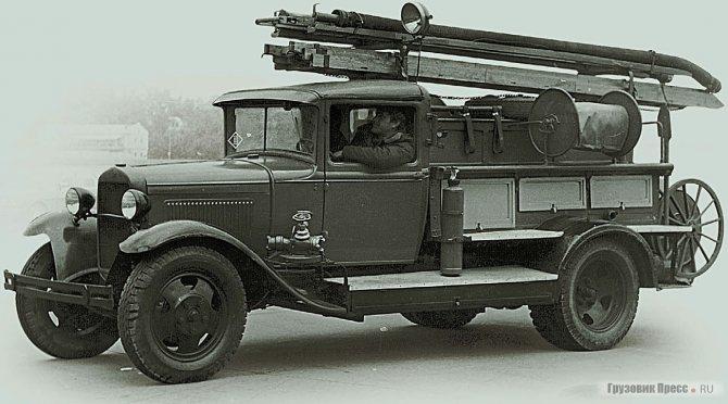 Пожарный автомобиль ПМЗ-1А на базе ГАЗ-ММ