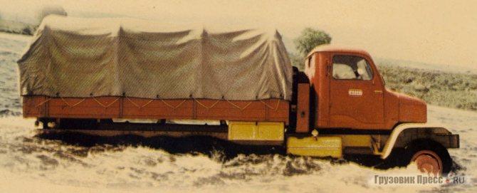 Praga V3S преодолевал брод глубиной до 0,8 м