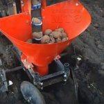 Прицепная картофелесажалка для минитрактора