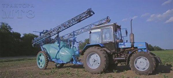 Прицепной опрыскиватель для трактора МТЗ