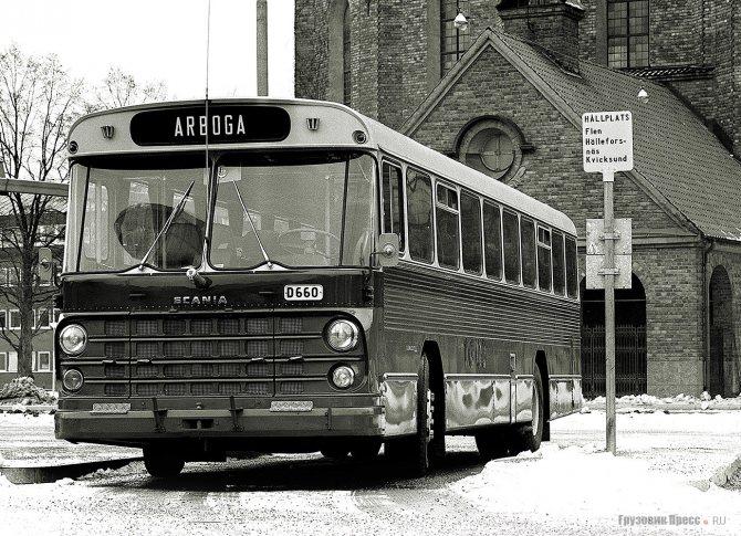 Пригородный автобус Scania CF110L переднемоторной компоновки, 1968 г.