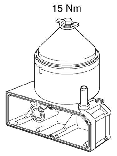 Проверка уплотнительного кольца и затягивание стопорной гайки