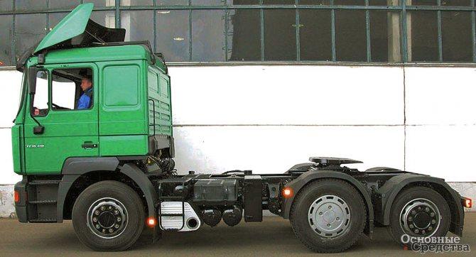 Располождение ССУ на раме тягача должно обеспечить полное использование грузоподъемности шин тягача