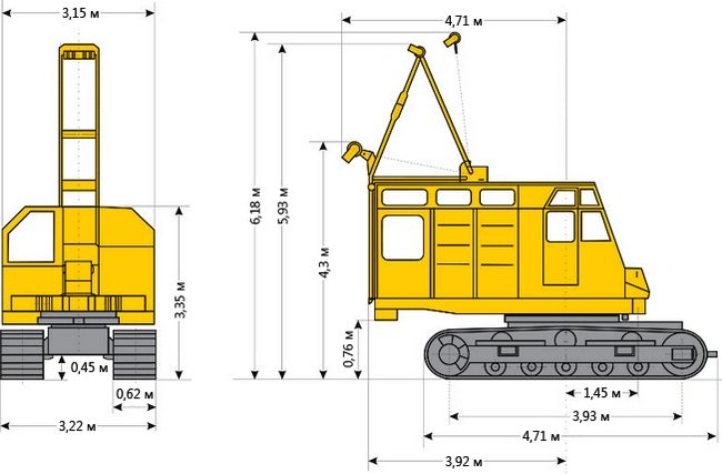 РДК-250 габаритные размеры