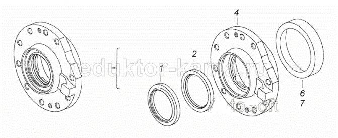 Редуктор среднего моста КамАЗ 6520 схема