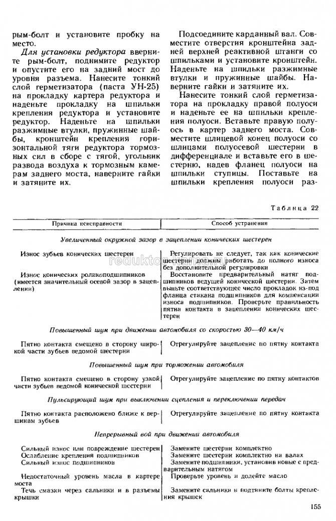 Ремонт редуктора КамАЗ 155
