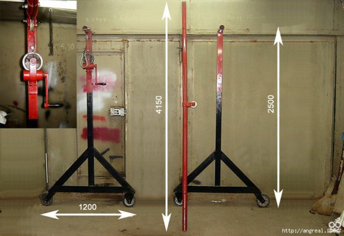 Самодельная кран-балка для гаража