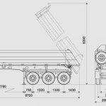 Самосвальный трёхосный полуприцеп САТ-118 с кузовом, скруглённым в нижних углах.
