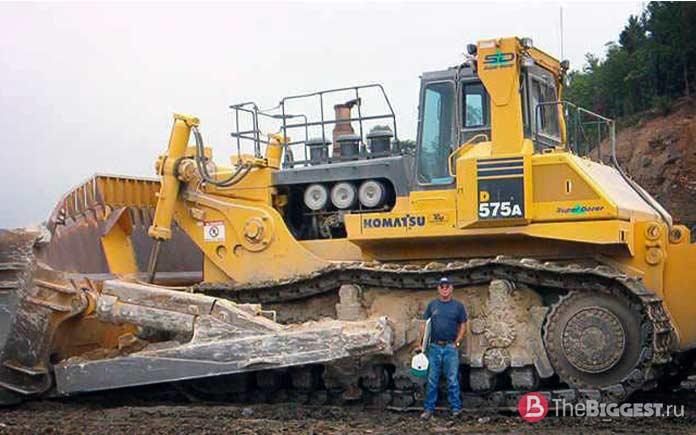 Самые большие бульдозеры: KOMATSU D575A 3SD
