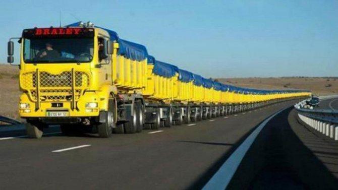 самый длинный грузовик в мире равен 1 км