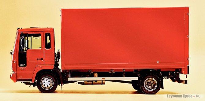 Самый лёгкий грузовик в программе семейства Volvo FLC (полная масса 7,5 т), 1996 г. Он оснащался 4-цилиндровым дизелем Perkins мощностью 136 л.с.