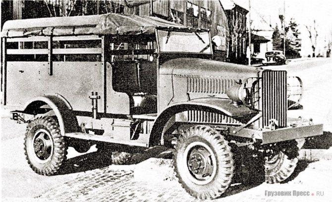 Санитарный International M-1-4 с кузовом компании Boyertown. 1942 г.
