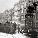 Scania IL Трамвайного отдела ПГУ в действии. Петербург, 1913 г.