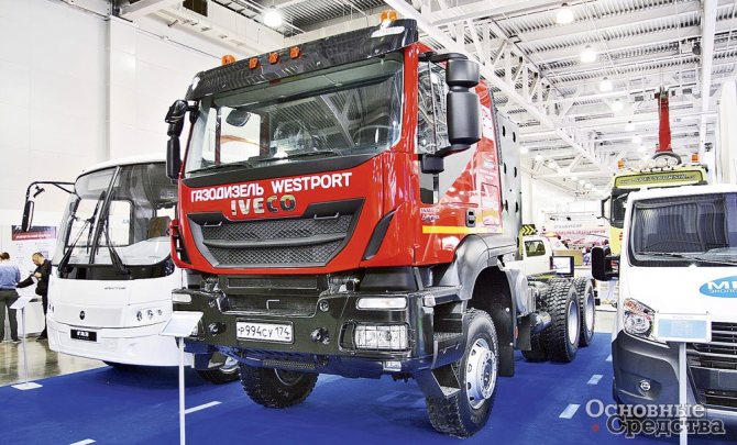 Седельный тягач Iveco-AMT Trakker с конвертированным дизелем Cursor мощностью 332 кВт