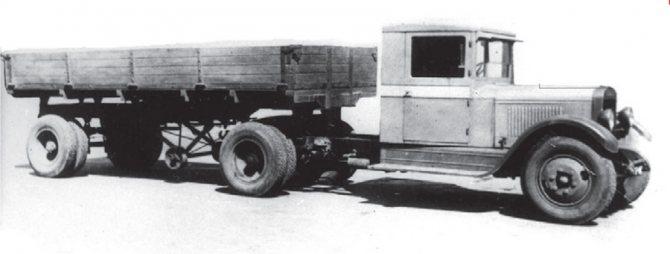 Седельный тягач ЗИС-10 с полуприцепом НАТИ, 1934-1940 гг.