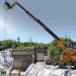 Sennebogen 608 Multicrane работает с грузовой лебедкой