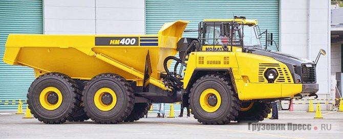 Шарнирно-сочленённый Komatsu HM400-5