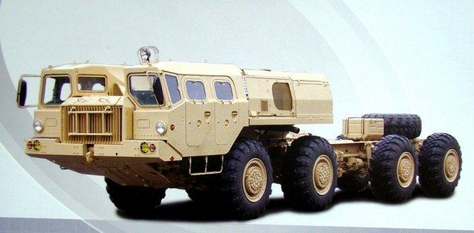 Шасси МАЗ-543 позднего выпуска для вспомогательного оснащения (из проспекта МЗКТ)