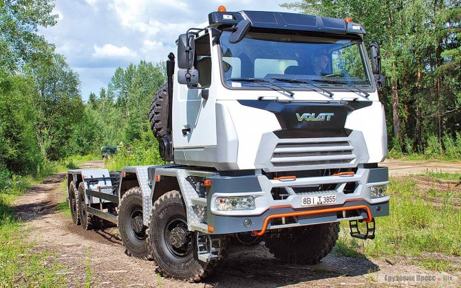Шасси МЗКТ-750004 (8х8) для нефтегазовой отрасли