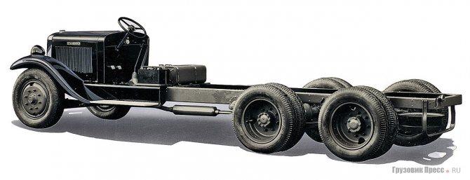 Шасси Volvo LV66LF с колёсной формулой 6х2. 1931 г.