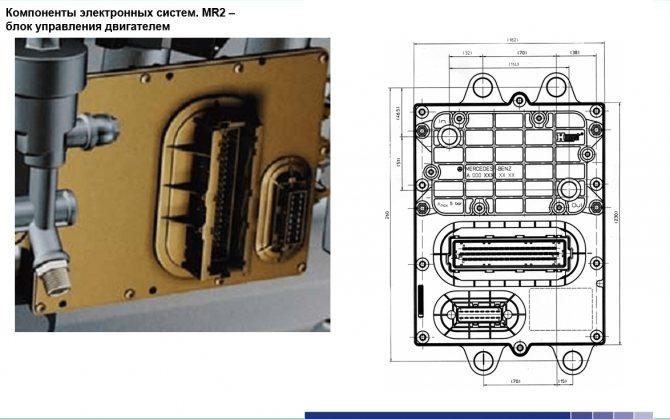 Схема блока управления двигателем КАМАЗ 5490
