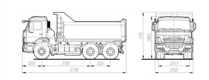 схема самосвала камаз 65115 - рестайлинг