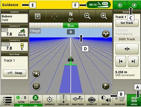 Снимок экрана John Deere CommandCenter 4200
