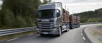 Сортиментавоз - лесовоз Scania (Скания)