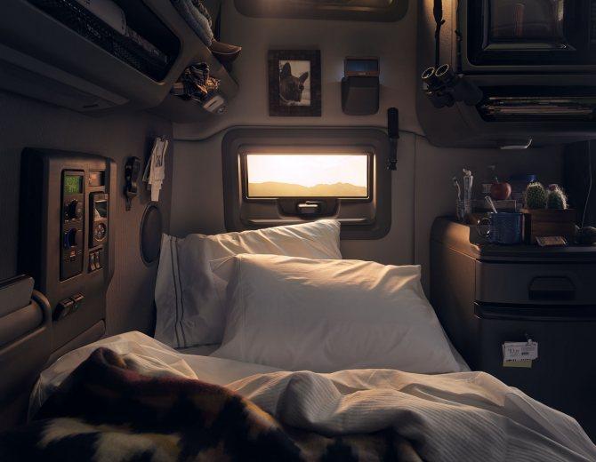 Спальное место в volvo vnl