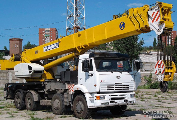 Спецшасси БАЗ-80291 для 50-тонного крана