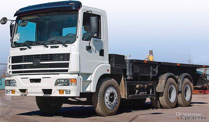 Спецшасси БАЗ-81311 для 25-тонного крана