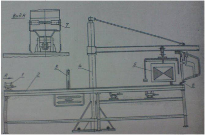 Стенд ОПР-1795СБ для ремонта клавиш соломотряса