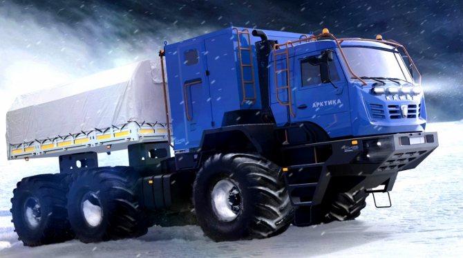 Стихия «КАМАЗа Арктики» — перевозка людей и грузов, работа в самых суровых условиях