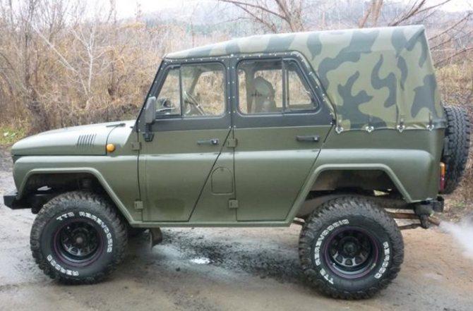 Тентованный УАЗ 469