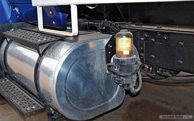 Топливный фильтр предоставлен всем ветрам, грязи и морозу
