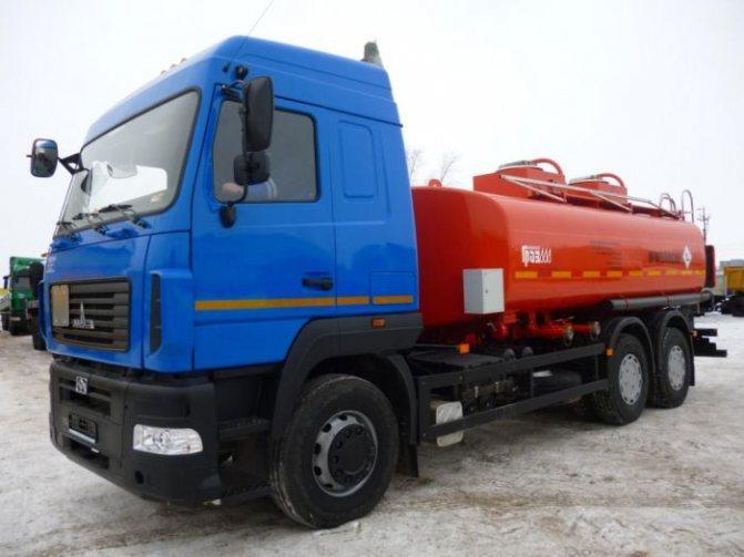 Топливозаправщик МАЗ АТЗ 56216D шасси 6312В9 АТЗ-17