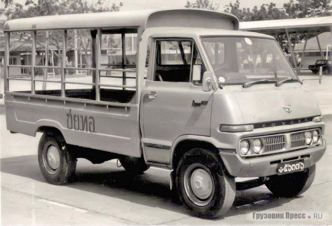 Toyota Dyna RU10, выпускаемая в 1971–1977 гг., благодаря невысокой цене определила на долгие годы успех моделям Dyna и Daihatsu Delta II